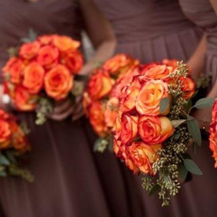 Petrecere de nunta in portocaliu si maro!