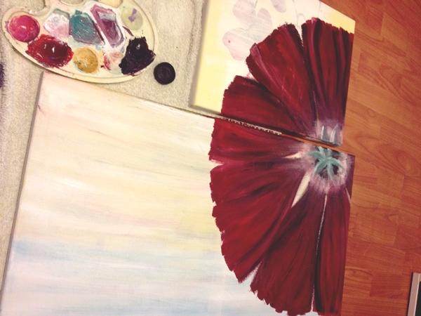 pictura cu flori