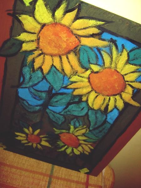 flori pe sticla