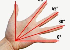 Afla usor multiplicarea, unghiul si lungimea necesara folosind degetele mainilor