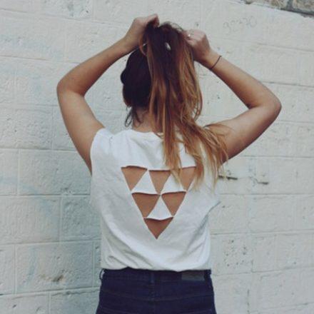 13 idei cool despre cum îți poți tăia un tricou vechi