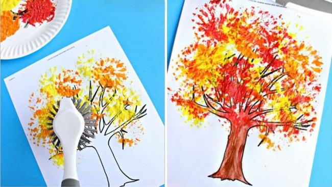 desen cu periute diferite
