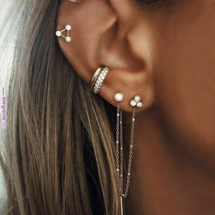 13 Modalitati de a purta mai multi cercei intr-o singura ureche