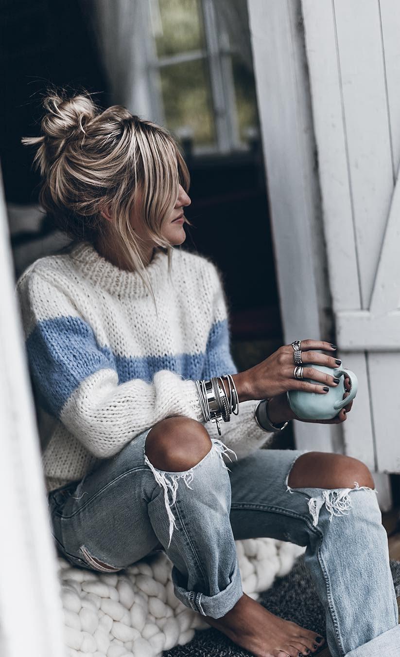 Pulovere tricotate pentru iarna