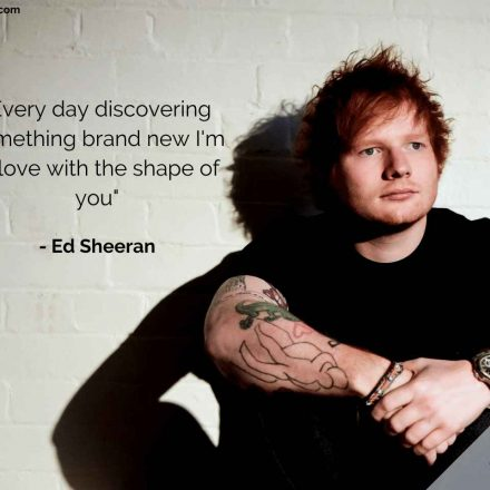 Shape of You – Ed Sheeran – Versuri Engleza