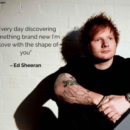 Shape of You – Ed Sheeran – Versuri Engleza