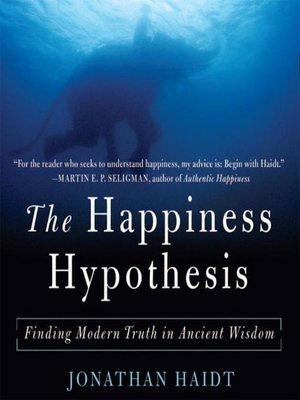 Jonathon Haidt Ipoteza fericirii