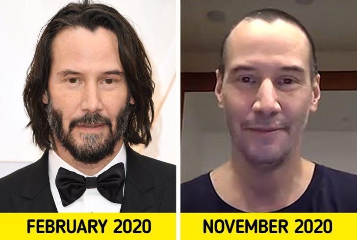 Un foarte neobișnuit aspect al actorului a fost capturat de fotografi pe platourile de filmare a unui film. Keanu pe care obișnuim să-l vedem cu părul mai lung era complet chel. Probabil pentru că a început să lucreze la un nou film Matrix care ar trebui să fie lansat în decembrie 2021 .