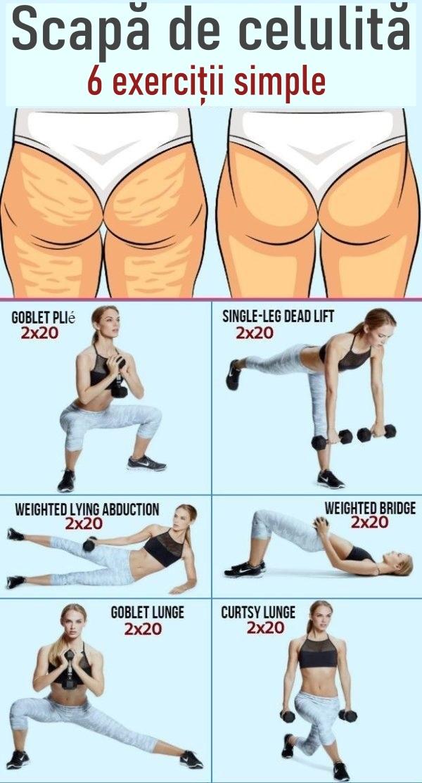 Cu aceste 6 exerciții poți scăpa de celulită
